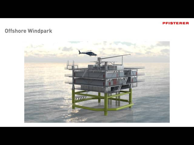 PFISTERER Offshore wind farm animation