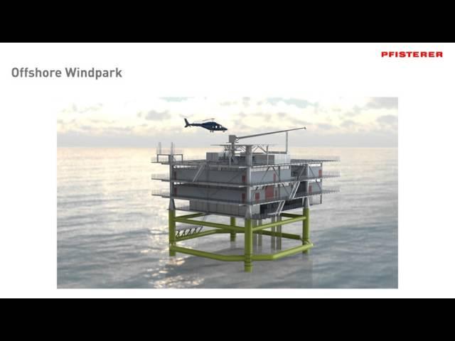 PFISTERER Offshore wind farm animation