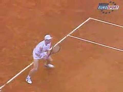 Courier Agassi 1991 French Open Final