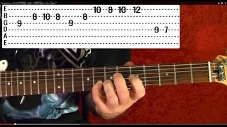 Guitar Lesson - PINK FLOYD - Time - Solo - With Printable Tabs