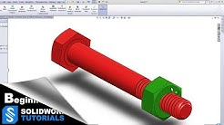 SolidWorks Tutorials- Bolt and Nut, ISO Standard M6 thread - Suitable for 3D Printing   SolidWorks