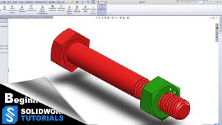 SolidWorks Tutorials- Bolt and Nut, ISO Standard M6 thread - Suitable for 3D Printing | SolidWorks