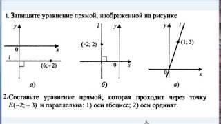 Урок 4. Уравнение прямой, параллельной оси. Декартовы координаты. Геометрия 9 класс.