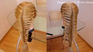 Коса Рыбий хвост в технике трёх кос. Видео-урок Hairstyle tutorial