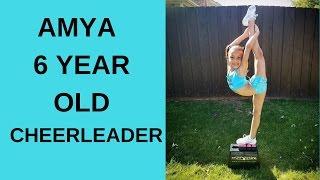Amya a 6 year old cheerleader!