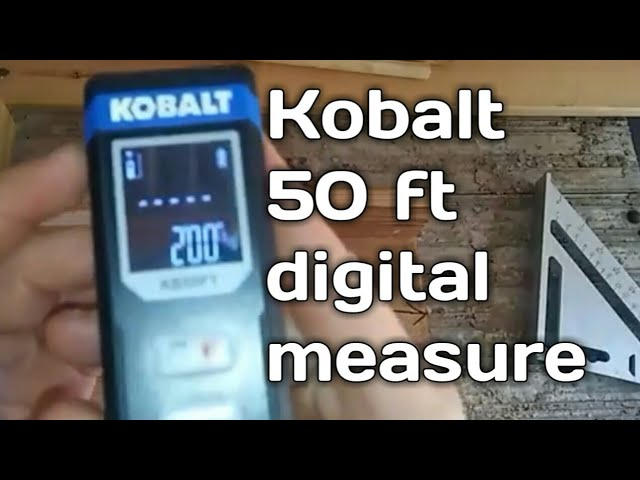 Kobalt Laser Distance Measurer 50ft with metric and SAE display and choice of top or bottom reference points