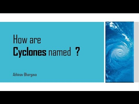 How are Cyclones named?