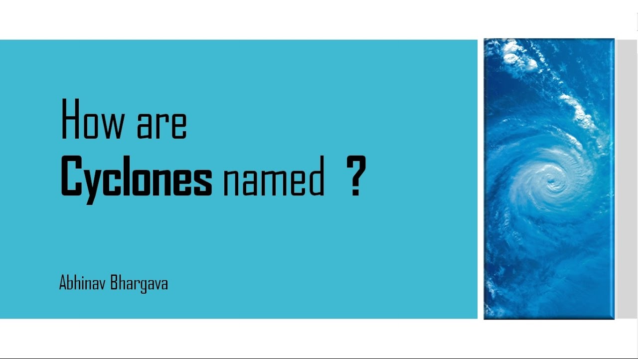 How are Cyclones named? by Target GS