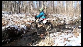 Honda XR250R Snow Drifting & FlyBys