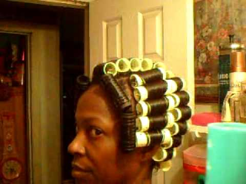 Pt 3 Of How To Roller Wrap Black Hair Youtube
