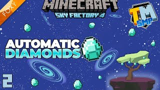 DIAMOND FARM   Sky Factory 4   Minecraft   Episode 2
