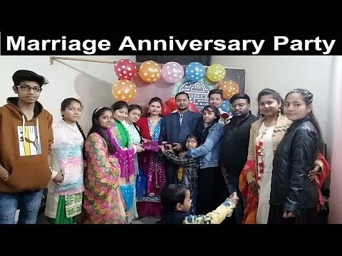 marriage anniversary party | party at chip guide computer | cake cutting