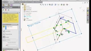 SolidWorks tutorial - basic surface design - the 3D Sketch Plane