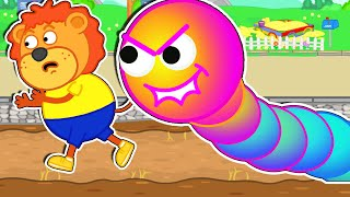 Lion Family Official Channel 🐛 Story about Worms from the Game | Cartoon for Kids
