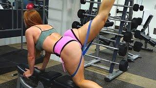 Sexy Toned Legs plus Bigger Butt Gym Workout! Squat Sponge Challange