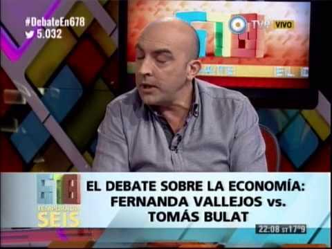 DEBATE SOBRE ECONOMIA CON FERNANDA VALLEJOS Y TOMAS BULAT - 13-05-14