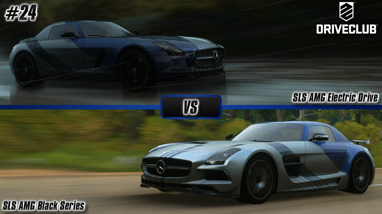 driveclub mercedes benz sls amg electric drive vs mercedes benz sls amg black series episode 24