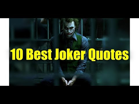 10 Best Joker Quotes Youtube