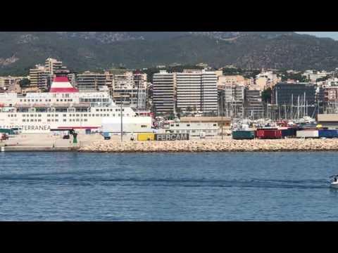 Sailing in Palma De Mallorca, SPAIN HD 1080p