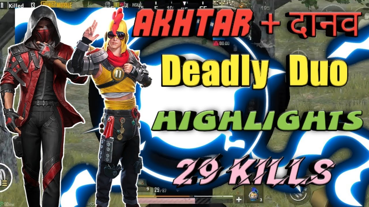 AKHTAR+दानव=DEADLY DUO || DUO HIGHLIGHS (29Kills) || AKHTAR GAMING