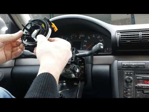 How to remove and instal an airbag clock spring
