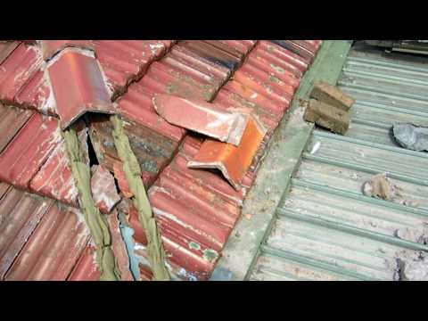 bed and point ridge capping on terracotta tiled roof - part 1