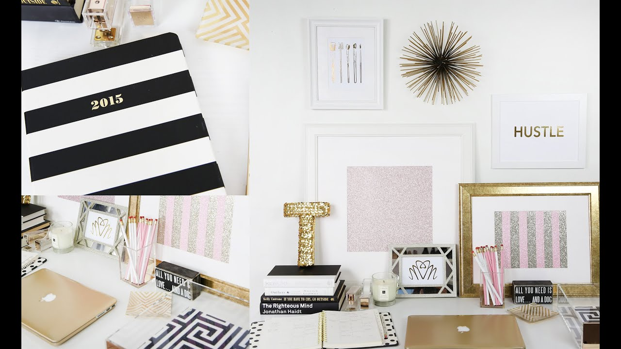 Cute And Girly Desktop Wallpapers Workspace Tour My Desk Beauty Blogger Teni Panosian