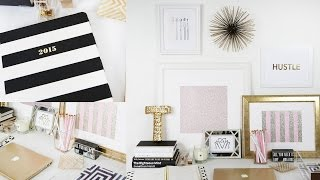 Workspace Tour: DIY  Desk Decor, + More | Beauty Blogger | Teni Panosian