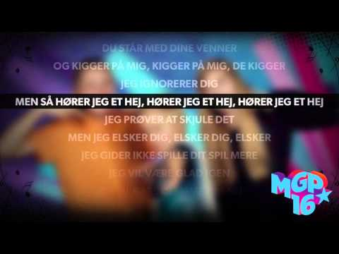 Jeen - Jeg savner dig | Karaoke | MGP 2016