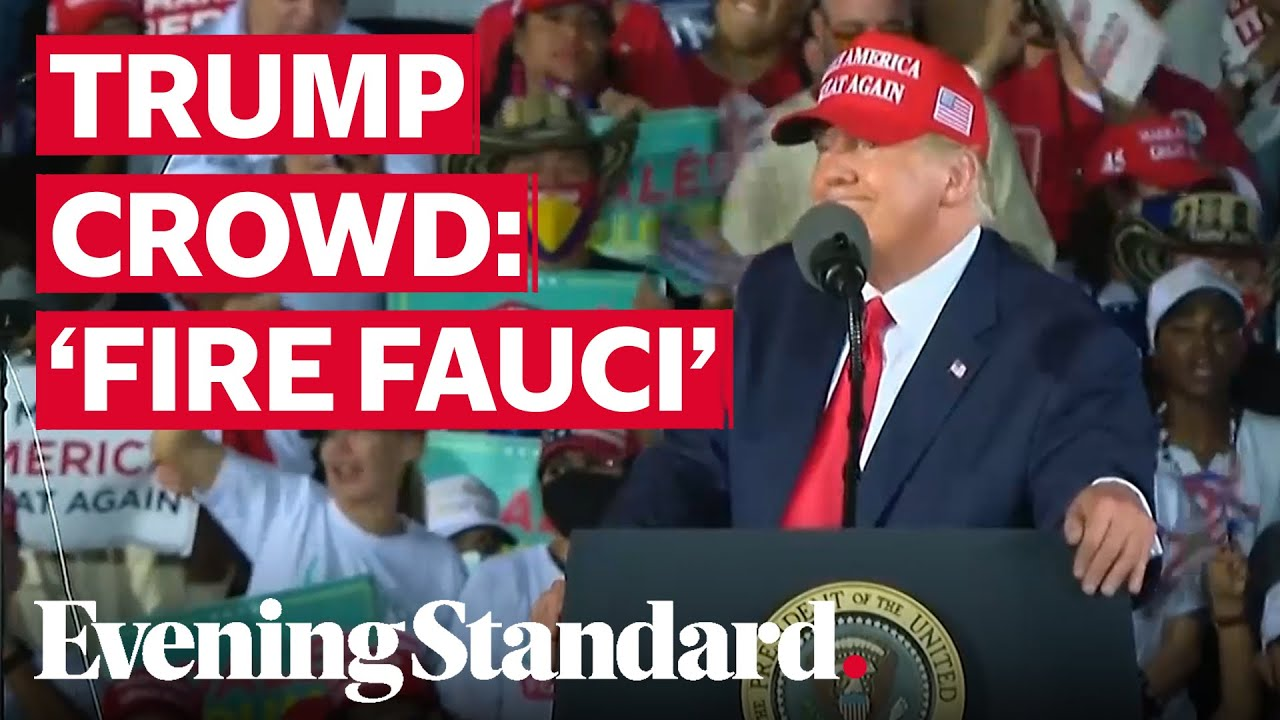 Crowd chant 'Fire Fauci' at Trump rally as President threatens to let top disease expert g