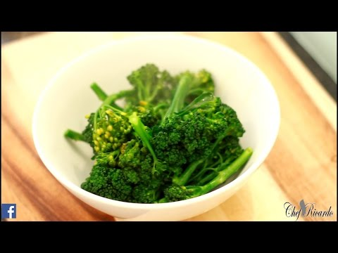 how to cook jamaica broccoli speciality  CARIBBEAN CHEF Chef Ricardo Cooking