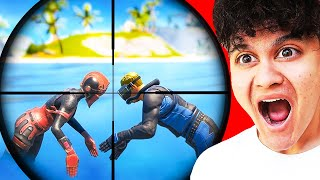 REACTING TO 200 IQ PLAYS IN FORTNITE #3