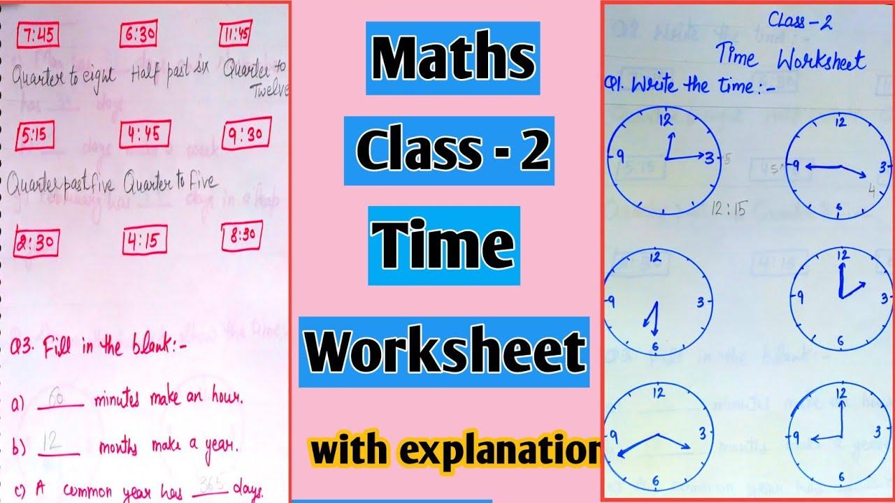 hight resolution of Maths Topic Time Worksheet For Class 2   Dubai Khalifa