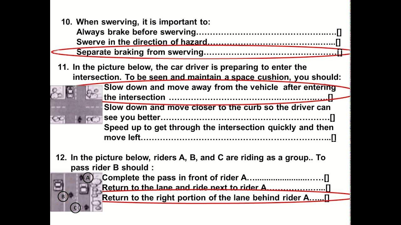 Drivers Dmv Test Booklet Ca