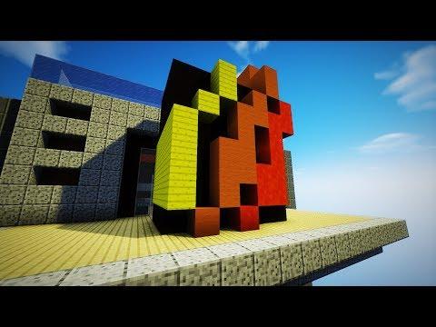 FIRE LOGO BED DEFENSE!   Minecraft Bed Wars w/ Prestonplayz