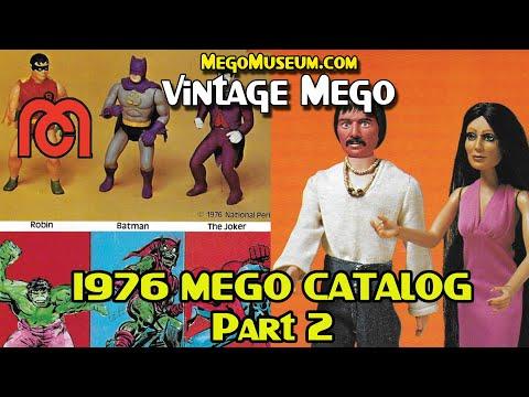 Vintage Mego: 1976 Catalog Part 2- Cher- Ali- Comic Action Heroes