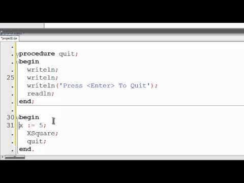Free Pascal Program Tutorial 15 - Procedures - Lazarus