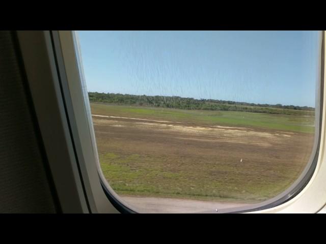 Departing Mackay on Virgin Australia over Flat top