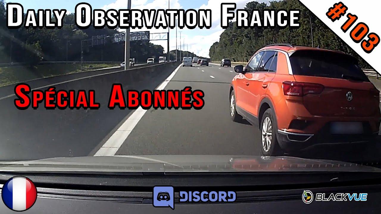 🇫🇷 Daily Observation #103 - ÉVITEMENT DE JUSTESSE SUR L'AUTOROUTE ! Dashcam France