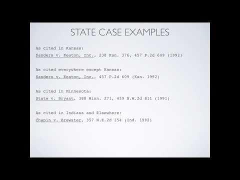 Legal Research: Citations