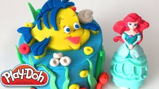 Mermaid Cake DIY Play-Doh Recipe How to make Play Dough Bakery food - CLAY ART TV