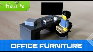 How to make LEGO office furniture (MOC, Basic)