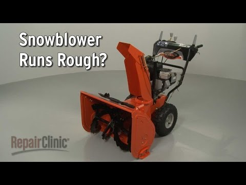 Snowblower Running Rough? Snowblower Troubleshooting