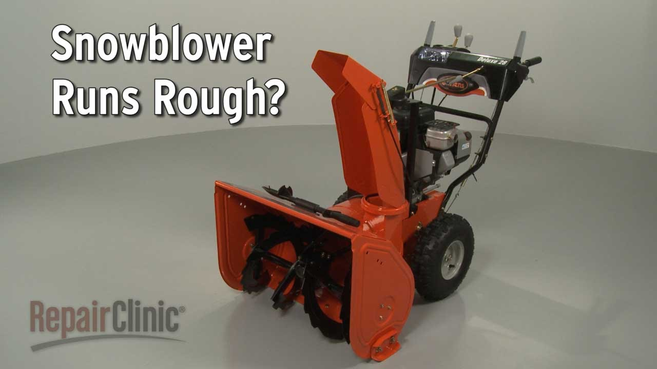 Snowblower Running Rough Snowblower Troubleshooting Youtube