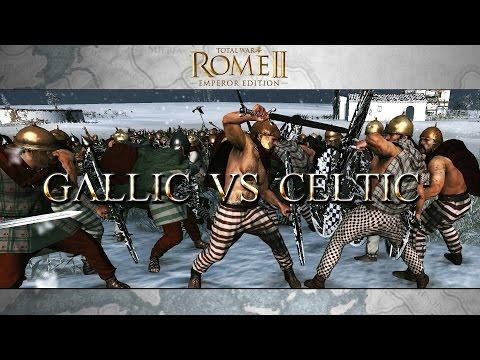 Total War Rome II : Celtic Vs Gallic Warriors