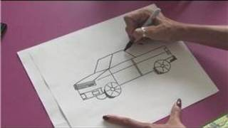 Drawing Lessons : How to Draw a Pickup Truck