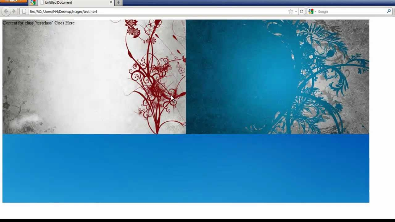 2 background images css - Dreamweaver Tutorial Using Multiple Background Images With Css 3