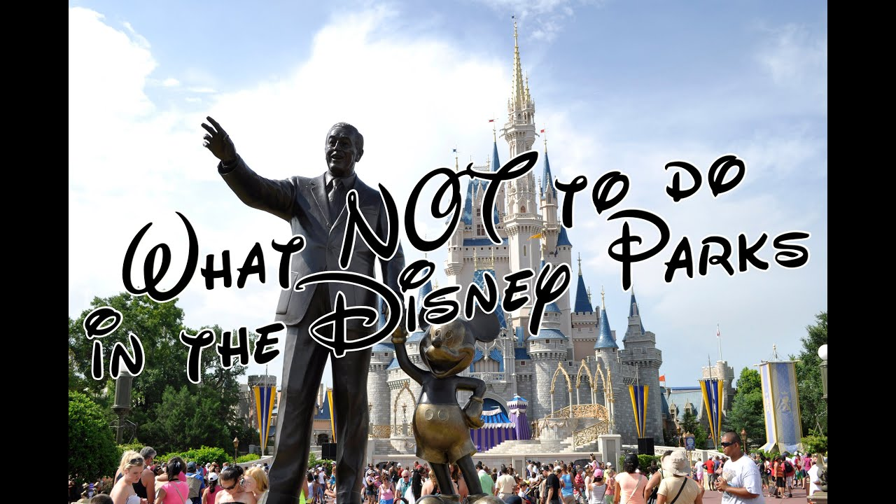 Disney Donts What not to do in the Disney Parks Jane Does Disney