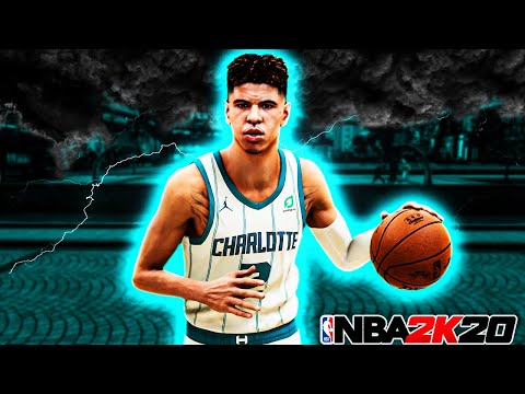 I took my LAMELO BALL BUILD to the park on NBA 2K20..