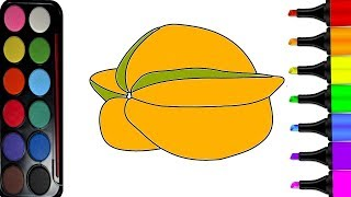 How To Drawing Star Fruit | Coloring Pages For Kids | Drawing Painting